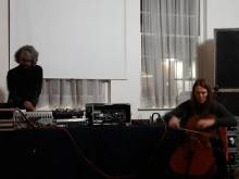 Audrey Riley and James Kelly turntables cello