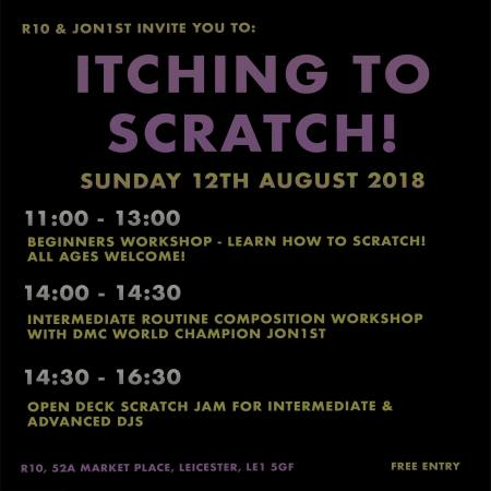 Itching to Scratch Turntablism workshops Jon First