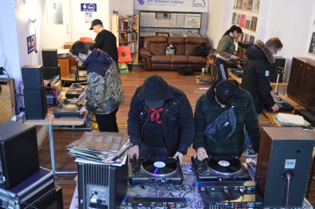 John Cage Workshop 33 13 r10 Leicester mixing vinyl